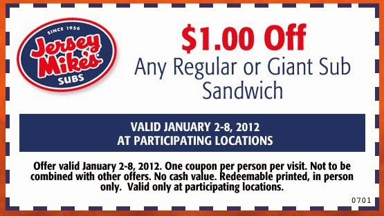 photograph relating to Jersey Mike's Printable Coupon called Jersey Mikes Subs Printable Discount coupons Printable Within just-Merchants