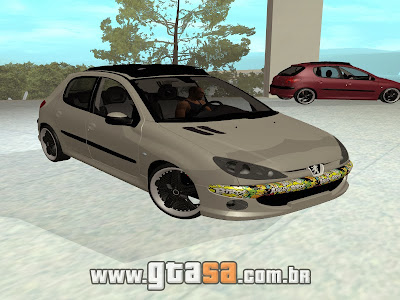 Peugeot 206 Sticker Edit para GTA San Andreas