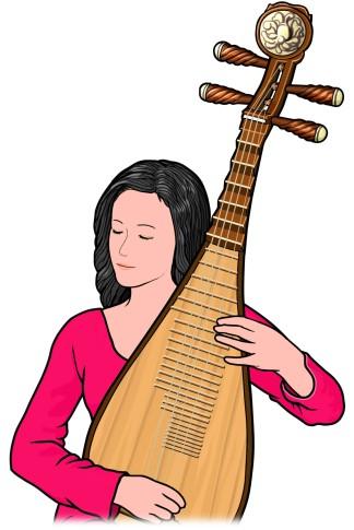 中国の琵琶 PIPA
