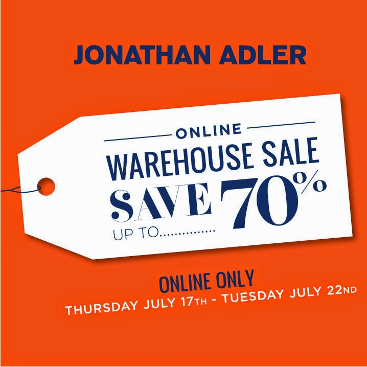 Jonathan Adler Online Warehouse Sale