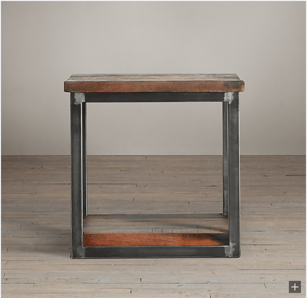 restoration hardware salvage boatwood side table decor look alikes