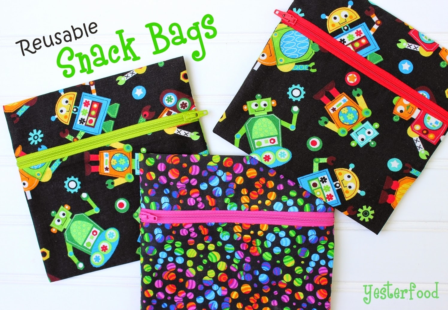 Yesterfood Reusable Snack Bags