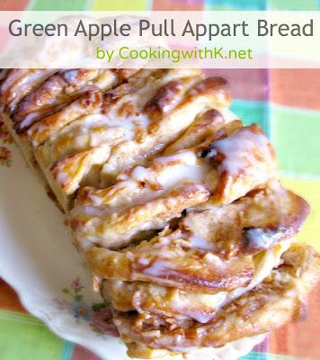 Green Apple Pull Apart Bread