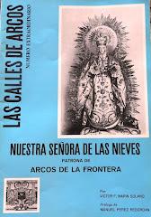 REVISTA DE LAS CALLES DE ARCOS DEDICA A NUESTRA SEÑORA DE LAS NIEVES 1975