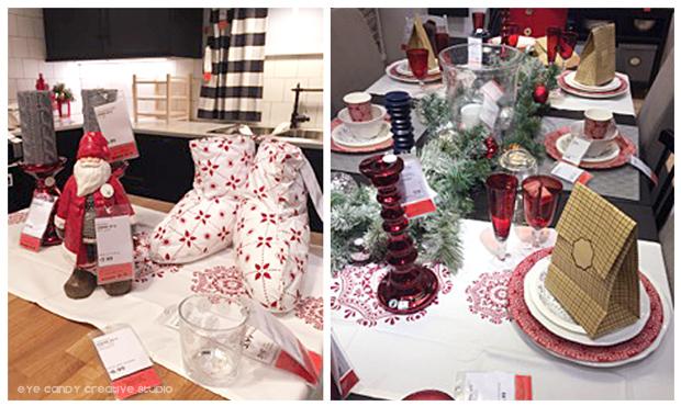 santa, christmas slippers, christmas tablescape, candleholders