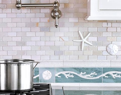 Coastal Kitchen Tiles Backsplash