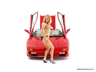 Supercars girl wallpaper