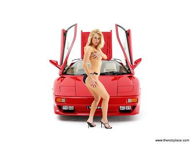 Supercars girl wallpaper