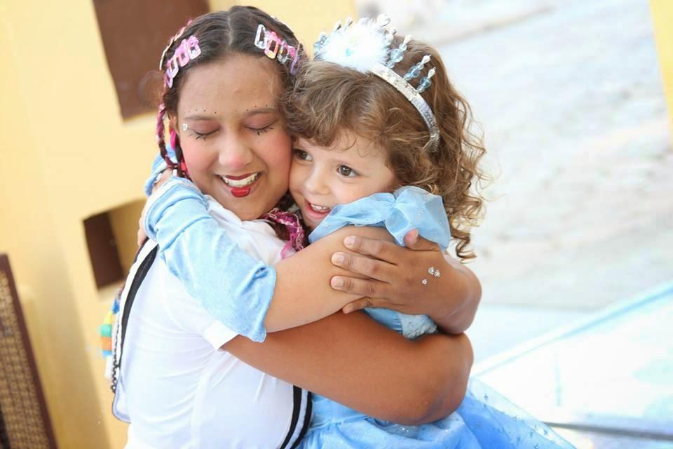 Maria e a Princesa Gabi.