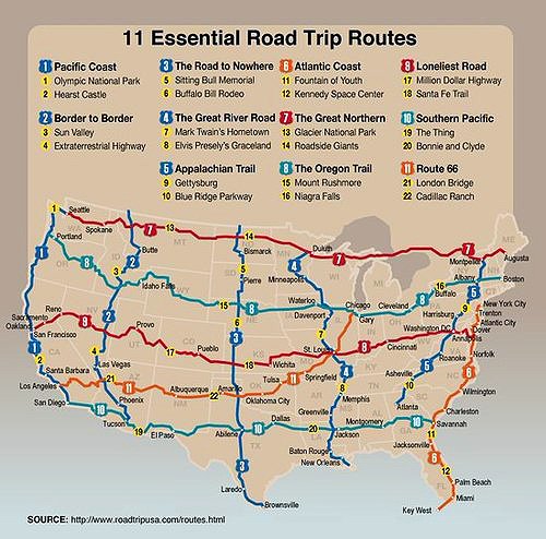 Just A Car Guy: Easiest way to map out a road trip across ...