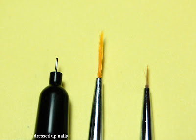 Nail Candy nail pen nib comparison with brushes