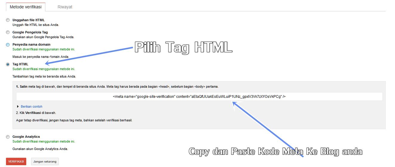 Mendaftarkan Blog Di Google webmaster 2014