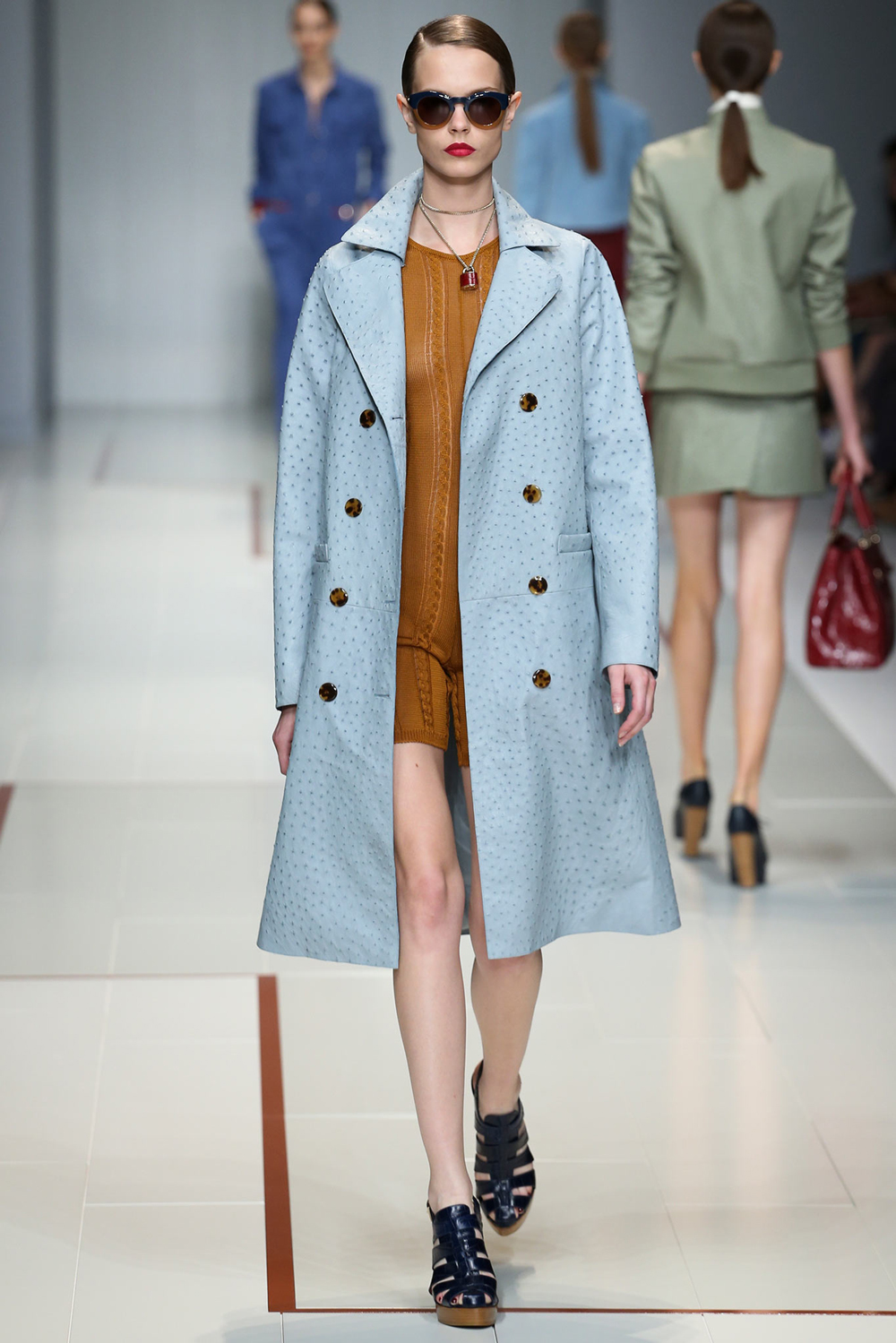 Pantone Colour Report Spring 2015 trends / aquamarine / how to wear aquamarine / outfit ideas / fashion collections S/S 2015 / Ferragamo Spring 2015 / via fashioned by love british fashion blog