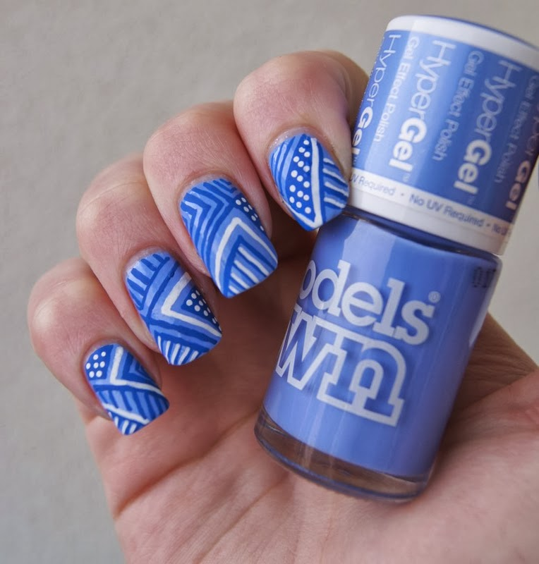 hyper gel models own cornflower gleam