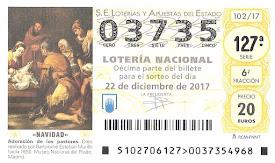 HAY LOTERIA DE NAVIDAD 2017 / MUCHA SUERTE!!