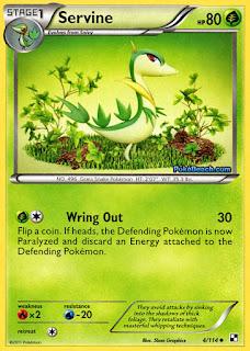 Servine #4/114 Black and White Pokemon Card