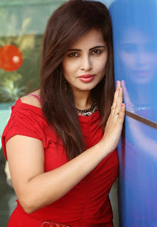 Haashika Dutt Sizzles in Red at Pochampally IKAT Art Mela Exhibition