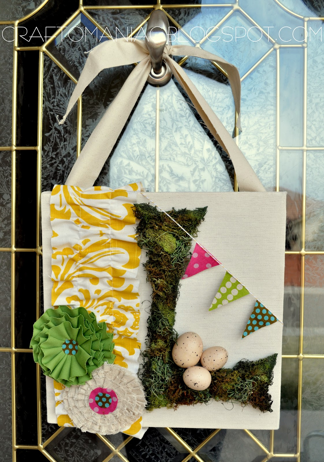 spring wreath u0026 front door
