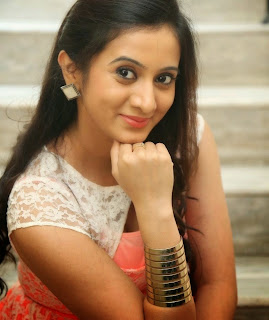 Actress Harshika Poonacha Pictures in Short Dress at Appudala Eppudila Movie Teaser Launch  20