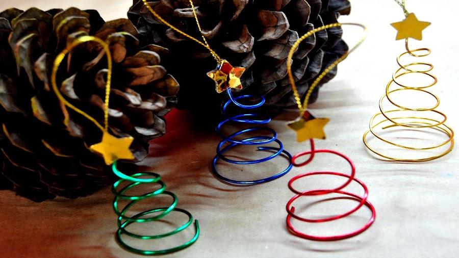 adornos para rbol de navidad hechos con alambre