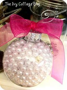 idéias com bolas de natal transparentes
