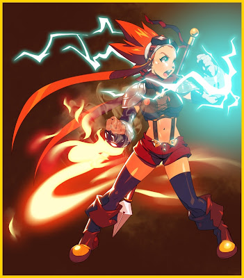 Concept art for Esmyrelda Maximus, character in video game Cryamore