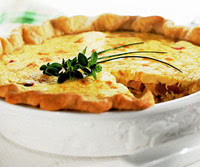 Smoked Chicken Quiche