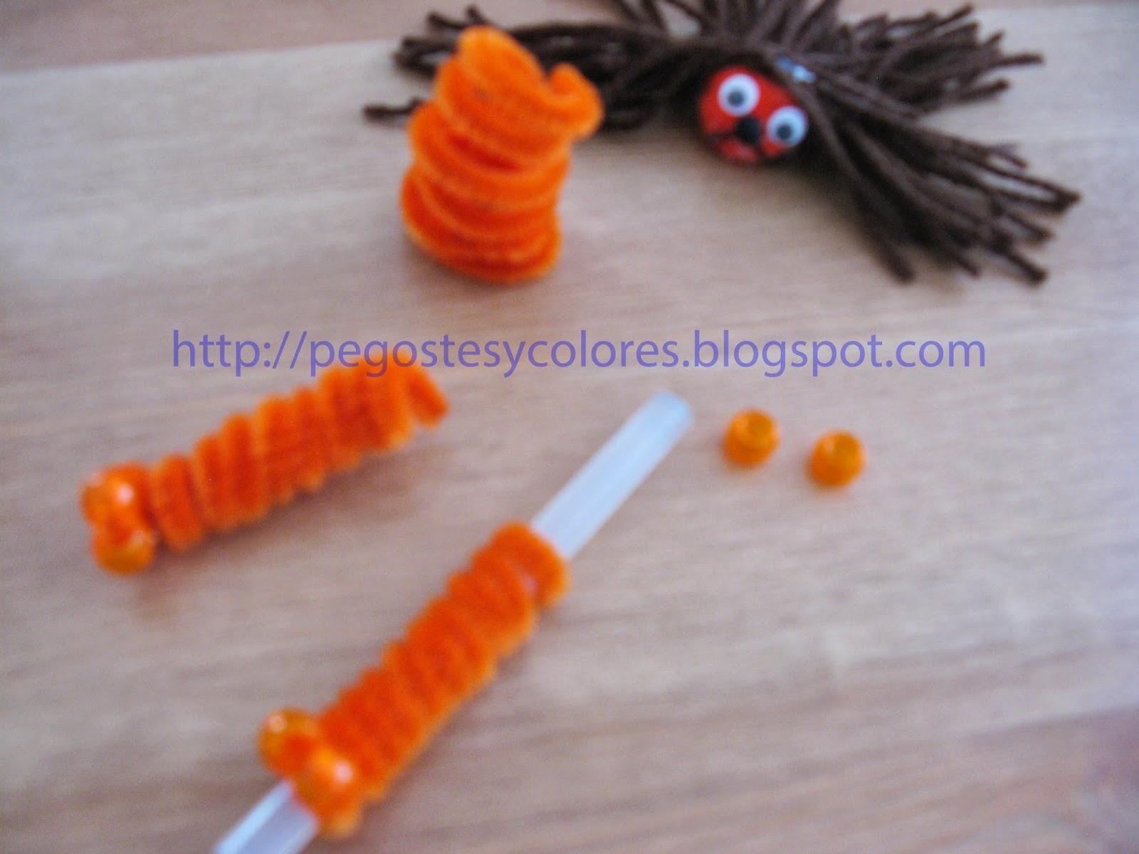 Pegostes y colores t teres de limpia pipas de el mago de - Como hacer color naranja ...
