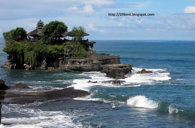 Tanah Lot a Hindu Temple in Bali Hight Resolation  image 2012