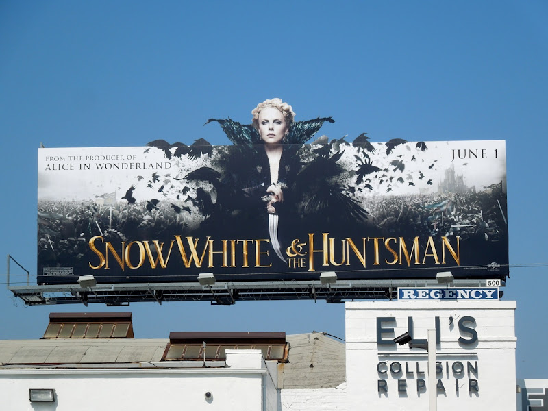 Charlize Theron Snow White Huntsman billboard