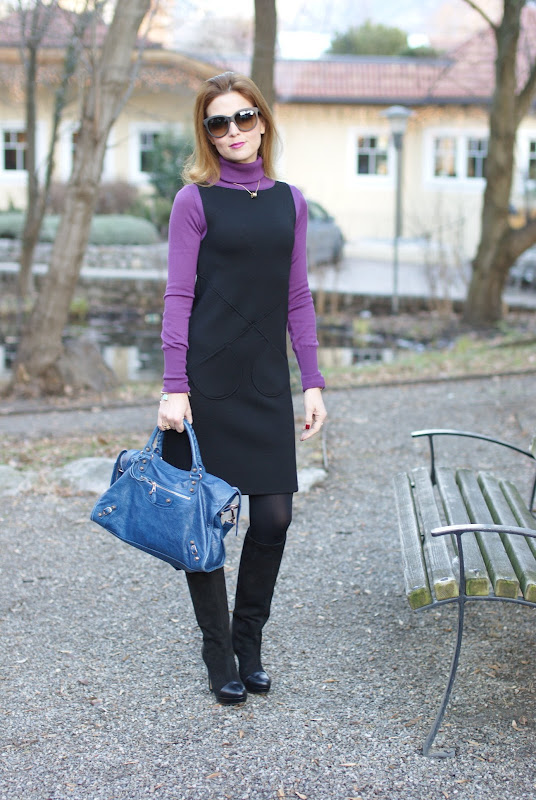 wool dress, Fashion and Cookies, Balenciaga bag