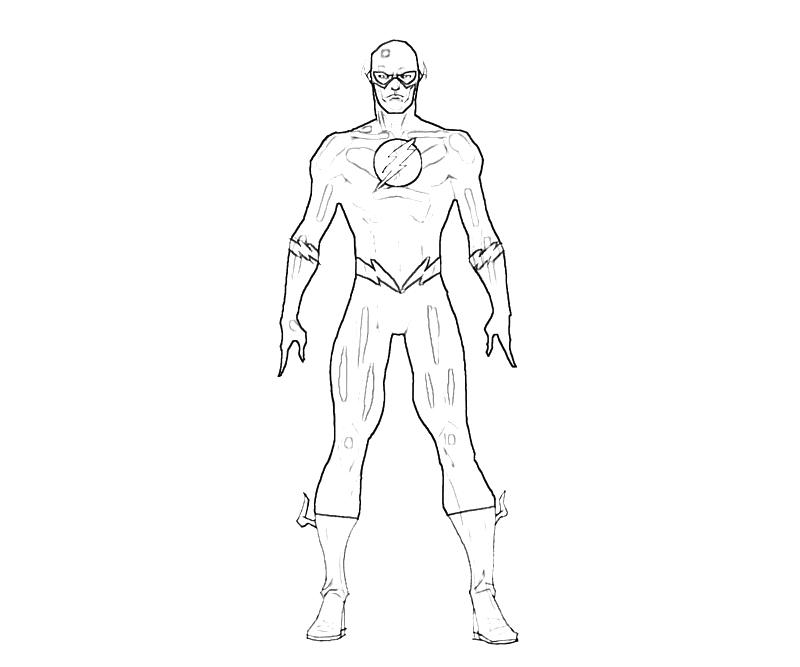 Printable flash flash superhero coloring pages 2