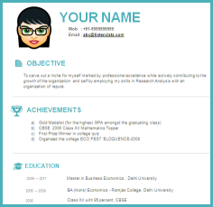 free modern resume templates - Contemporary Resume Templates Free