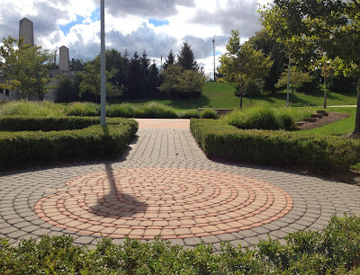 Detroit Riverwalk Labyrinth Gabriel Richard Park
