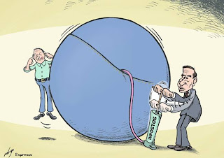 Impostos esgotam-se em derrapagens