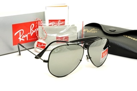 ray ban mercury  Ray Ban - RB3138 Shooter Black Frame, Silver Mercury Mirror Lens ...