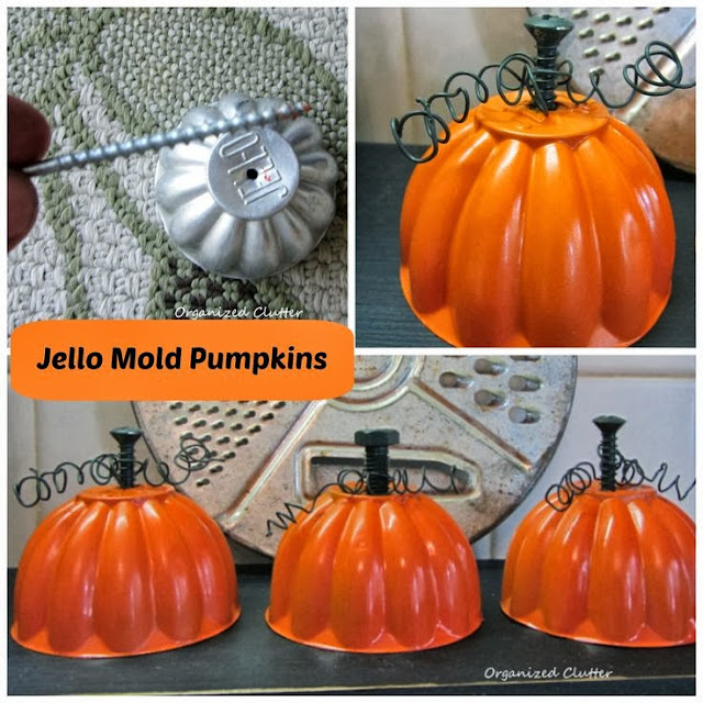 Chipping with Charm: Organized Clutter's Mini Mold Pumpkins