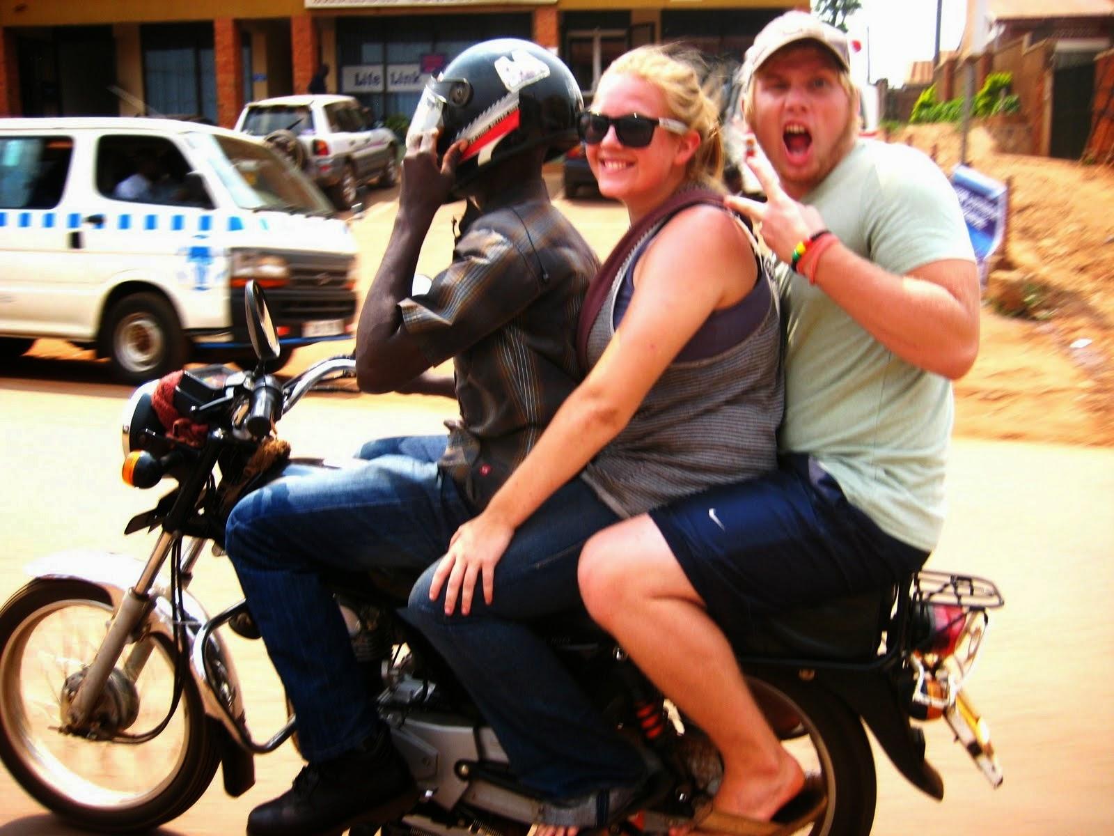Image result for boda boda uganda 2 passengers