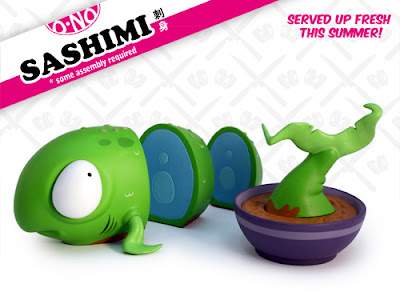 Standard Edition Green O-No Sashimi Vinyl Figure by Andrew Bell