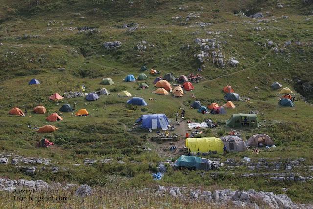 Лагерь на спасработах , пещера Ильхинская