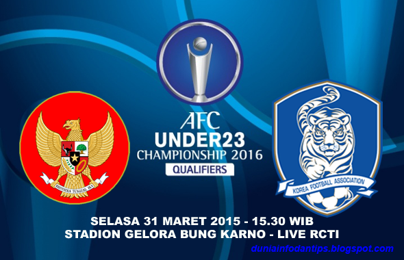 Indonesia vs Korea Selatan Kualifikasi Piala Asia AFC U-23