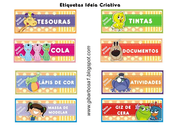 Etiquetas Galinha Pintadinha