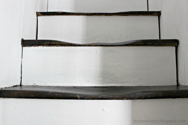 antique stair treads worn out grooves