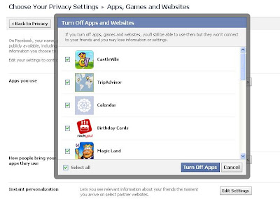 how to delete facebook apps