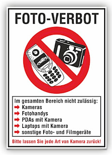 Schild: Foto-Verbot