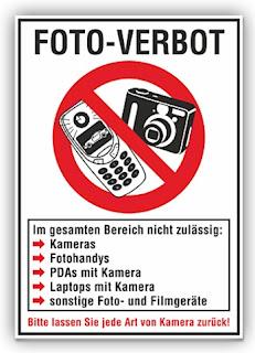 Schild: Foto-Verbot