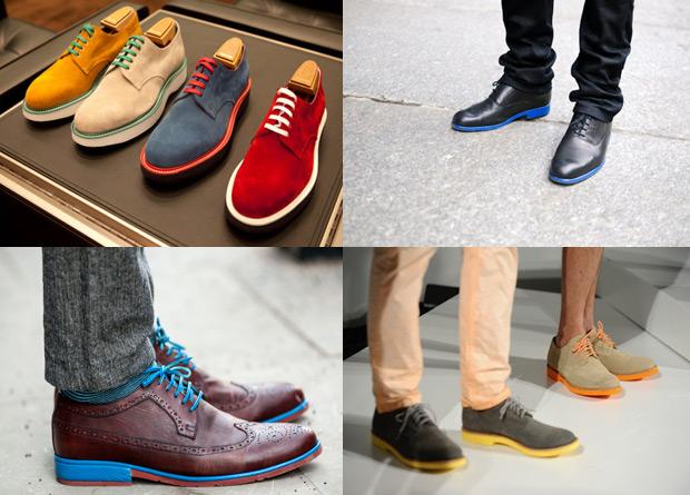 Zapatos con suela de color