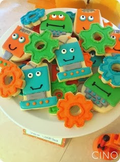robot cookies recipe