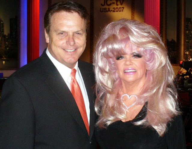 Jan Crouch is famous for the big wigs and nightie costumes on air.