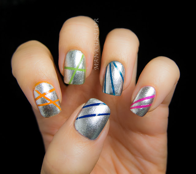 : Abstract Nail Art Challenge - Recreate fav - laser stripes